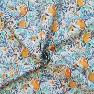 tejido oeko-tex algodon orgánico squirrel world chvmarket