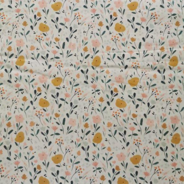tela de algodón little flowers chvmarket