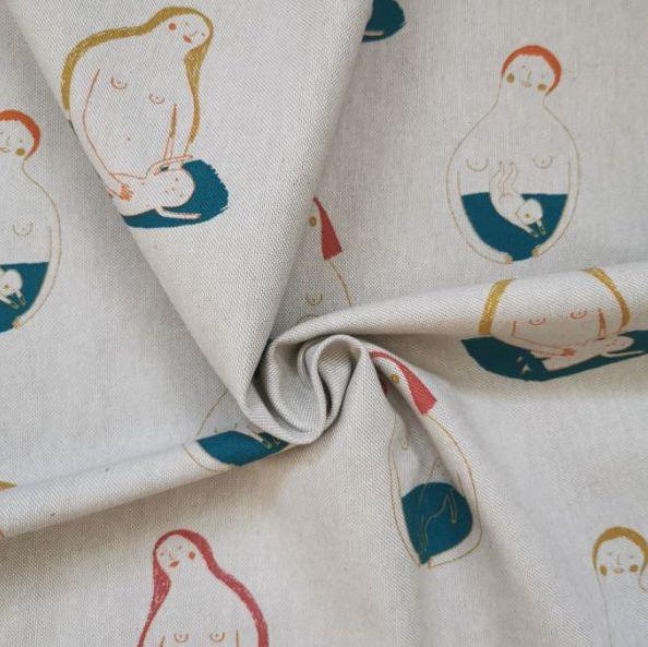 tejido loneta oeko-tex algodon my first bath