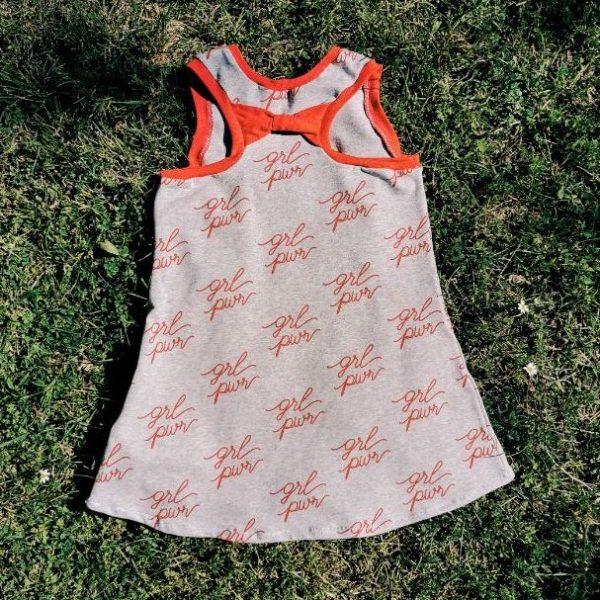 vestido handmade chvmarket con tela girl power
