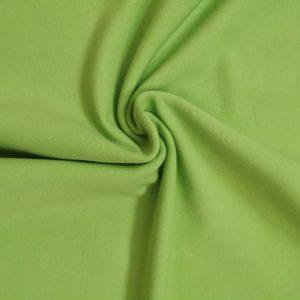 Tela de sudadera lisa, color verde manzana