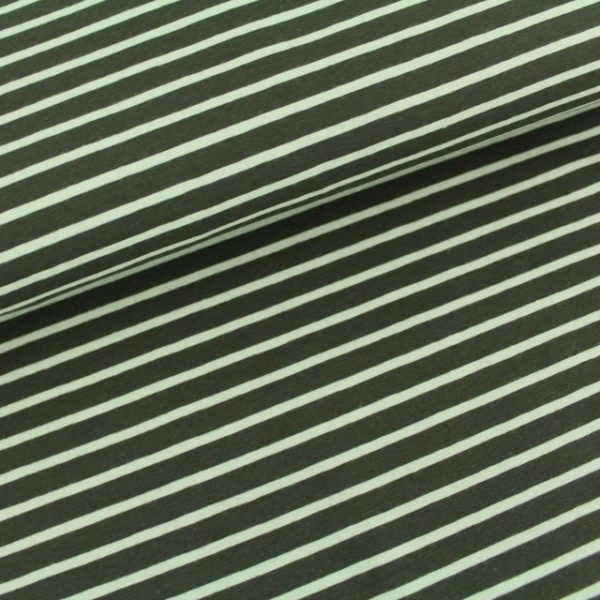 Rayas verde oscura y oliva