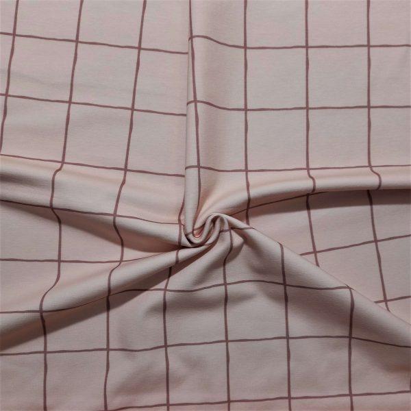 Fondo rosado cuadros grandes con líneas color tierra