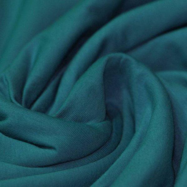 Tela punto de jersey liso, color petróleo