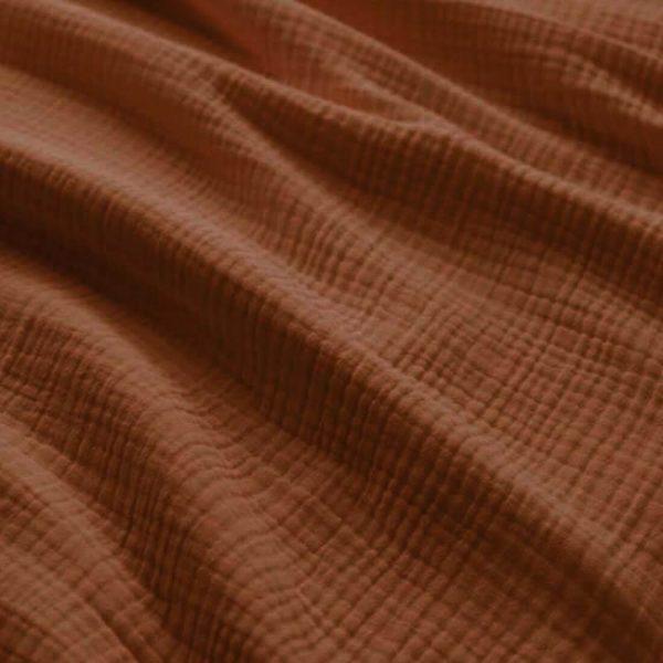 mueslina lisa color tierra