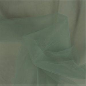 Tela de tul color verde envejecido