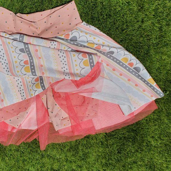 Falda de vuelo con tul