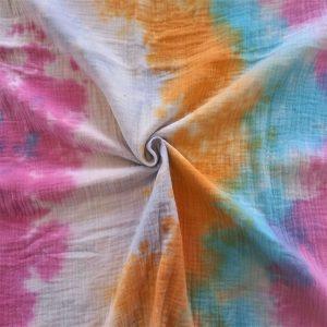 """Muselina con estampado multicolor estilo Tie Dye"""""""
