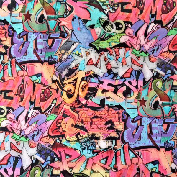 Multicolor. Estampado de graffiti