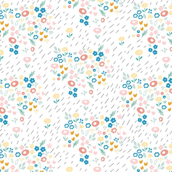dibujos de flores de diferentes colores sobre fondo blanco