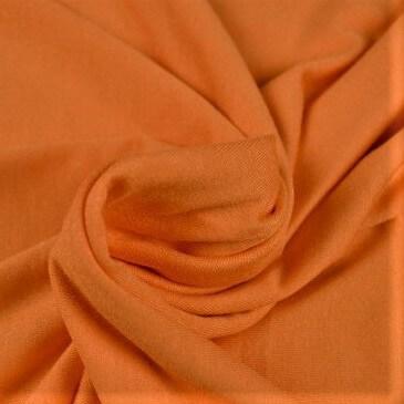 Tela viscosa elástica color naranja