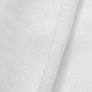 Tela jersey liso. Color blanco