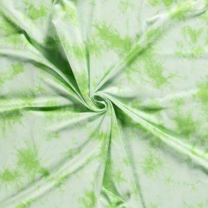 Estampado Tie Dye en tonos blanco y verde menta