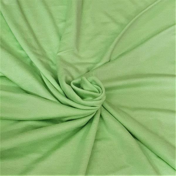 Tela viscosa elástica color verde lima neón