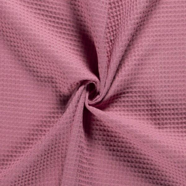Tela waffle rosa