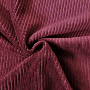 Tela de pana elastica color burdeos