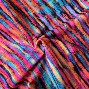 Estampado rayas de múltiples colores. Colores muy vivos